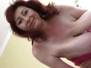 Hanging big tits milf