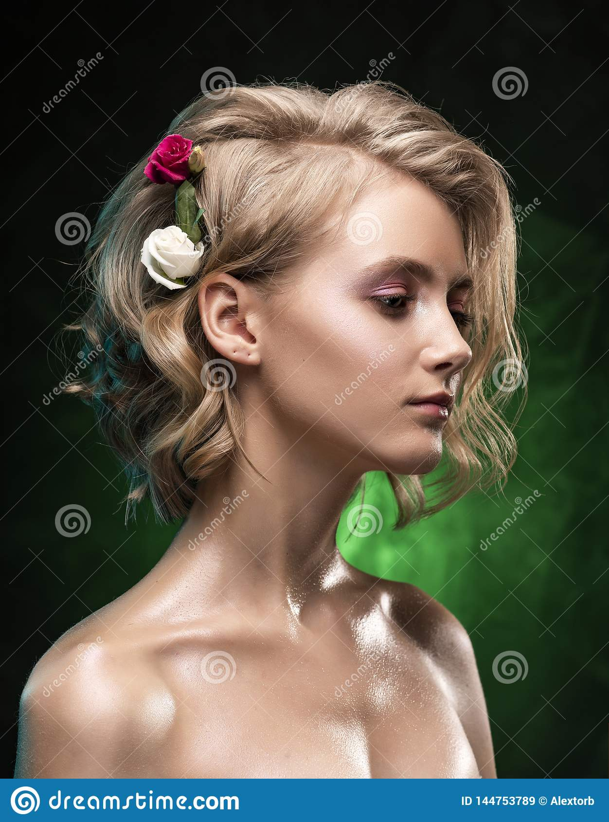 Nude girls with braids