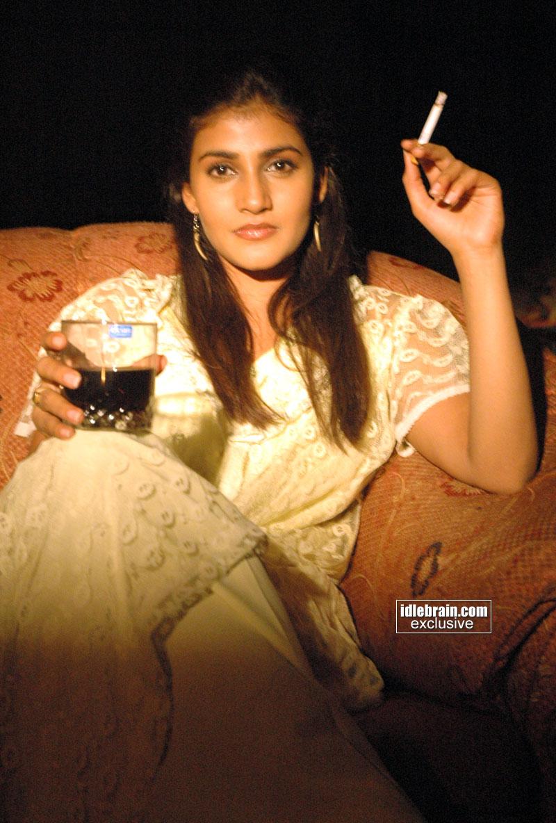 Hot indian girl smoking
