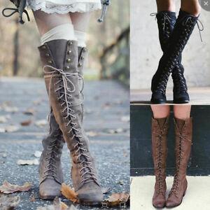 Asian thigh high boot