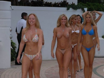 Nude beauty pageant contest
