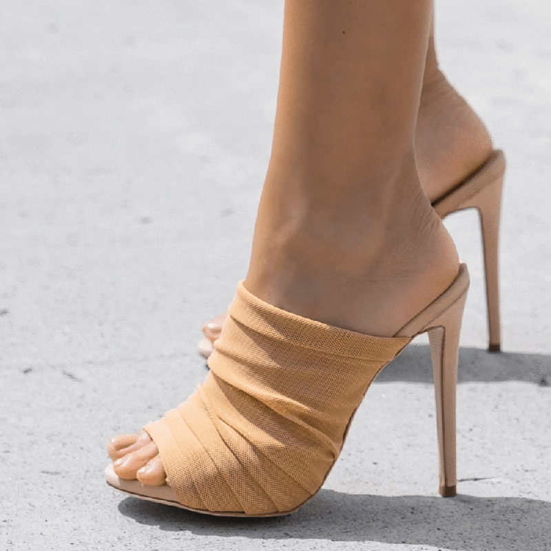 Nude sexy heels women