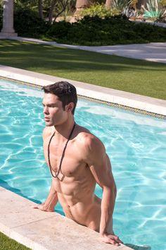 Hot naked men swimming