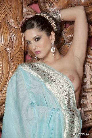 Sunny leon hot nude photoshoot with saree