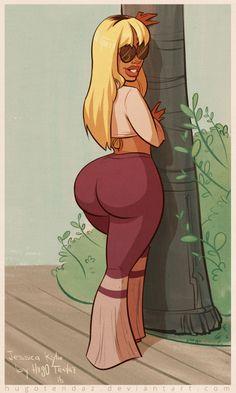 Black big booty cartoon naked pics