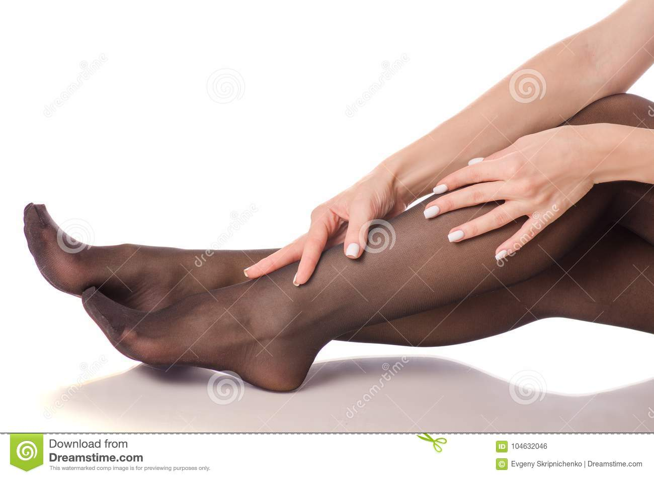 Pantyhose stockings nylons beautiful legs