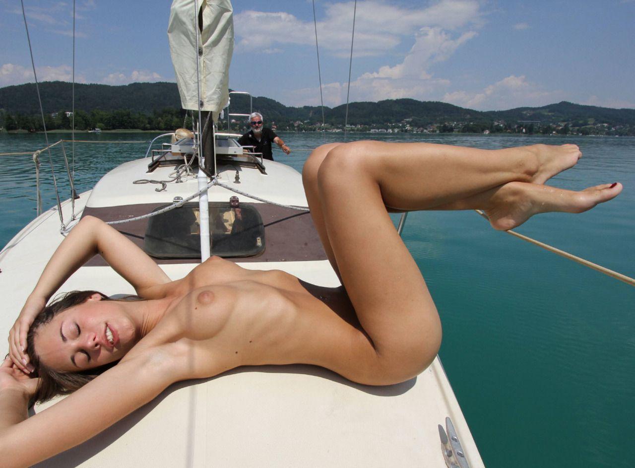 Nude on boat girl