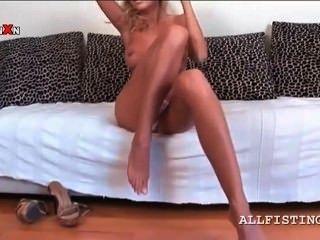 Skinny long leg blonde porn