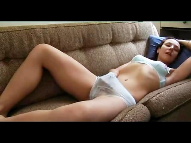 Caught masturbating milf sofa russian on