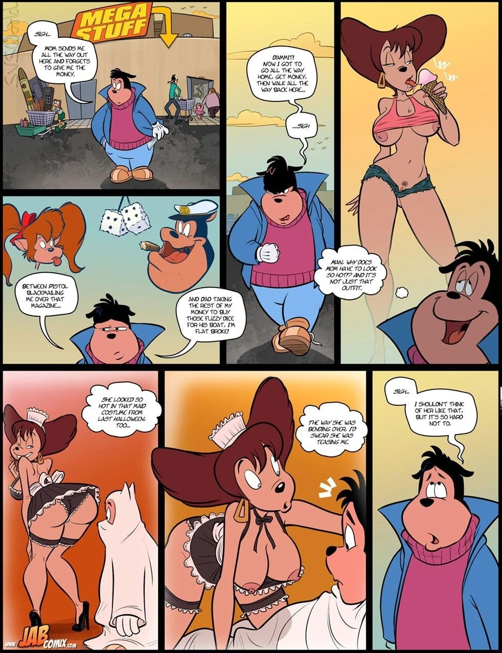 Milftoons comics family affair