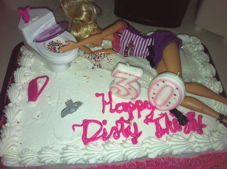 Funny adult birthday cake