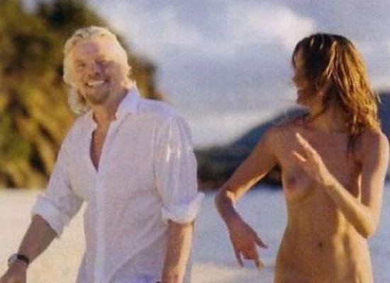 Richard branson naked model