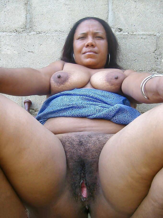 Hairy mature black nude women