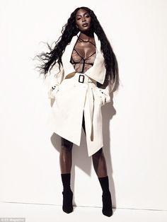 Skirt up naomi no panties campbell