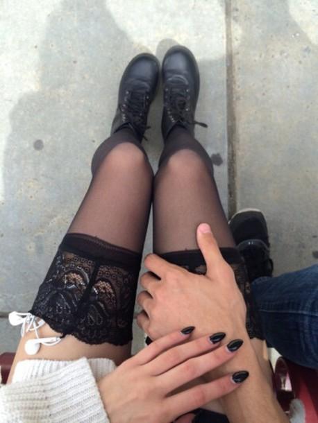 Over moms pantihose knee tumblir