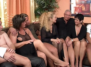 Mature sex orgy with boys