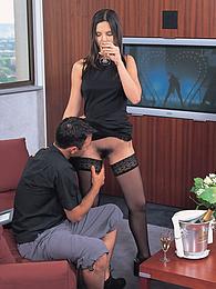 Angel brunette drunk sex amature