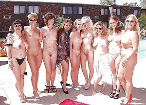 Group of hairy nude woman