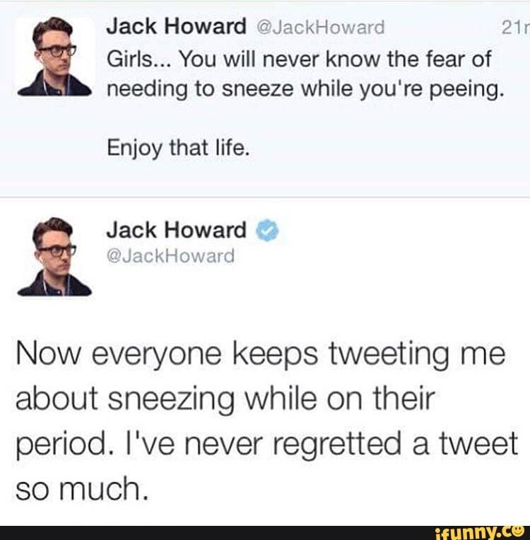 Sneezing while peeing cause bleeding