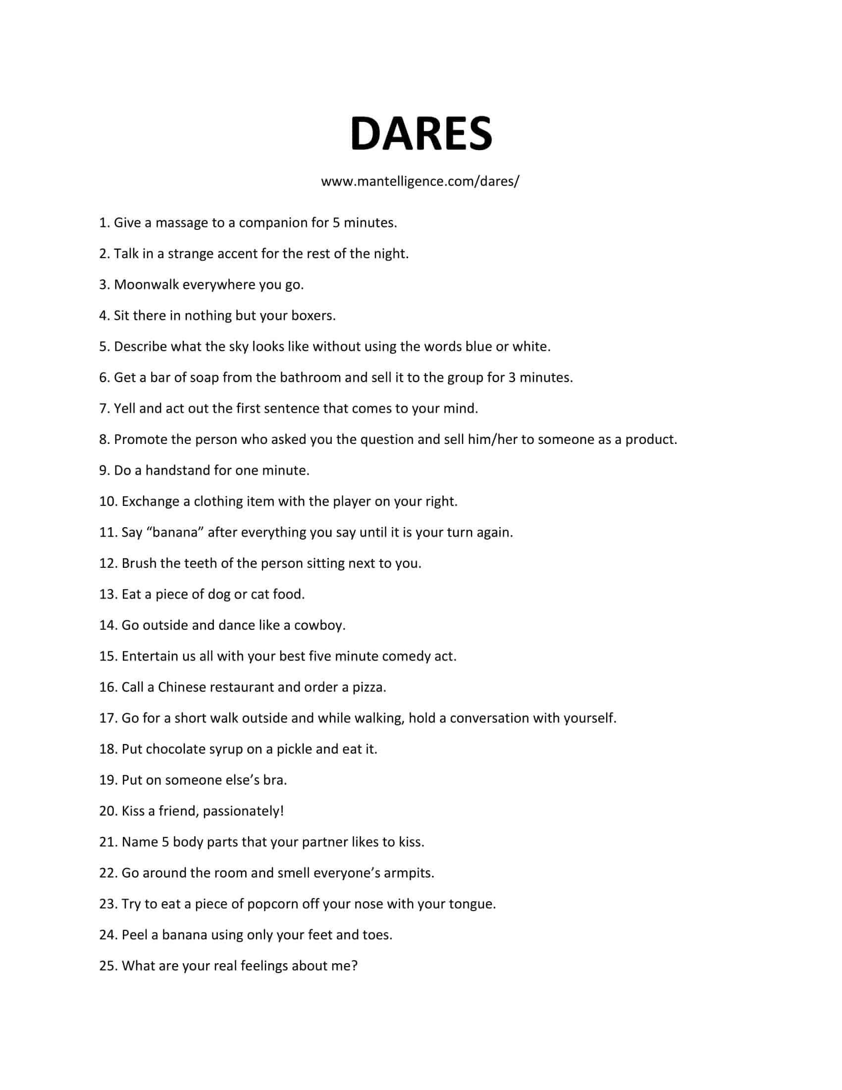 List of sex dares