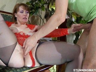 Russian mature big tits and ass