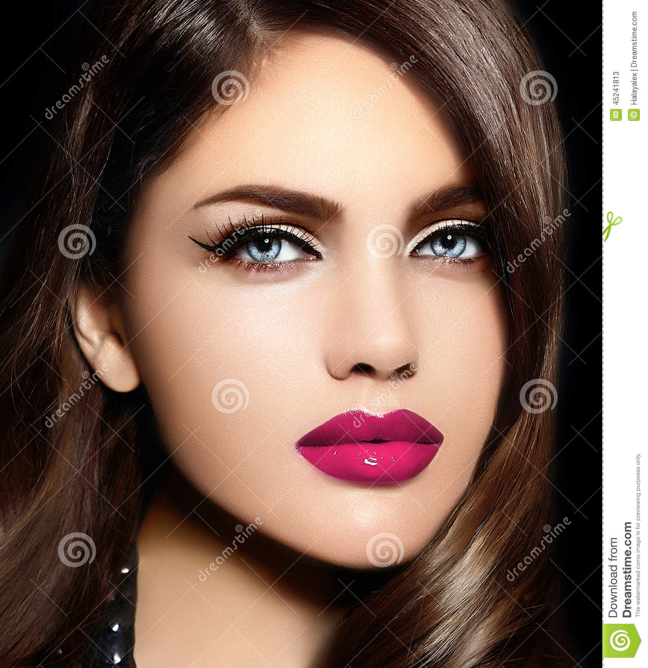 Woman with perfect lips