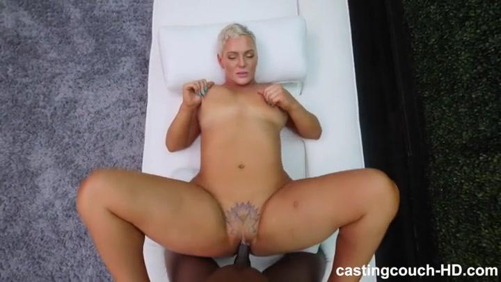 Shorthaired blonde fuck black dick