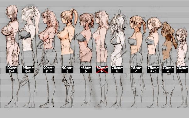 Calibur breast chart soul size
