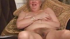 Very hairy granny nudist