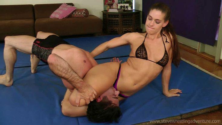 Skylar rene mixed wrestling