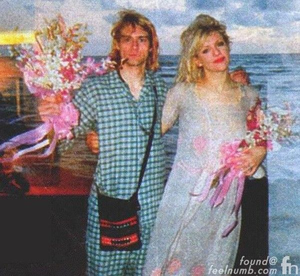 Courtney love kurt cobain wedding