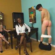 Women spanking naked boys