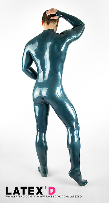 Latex full condom suit body