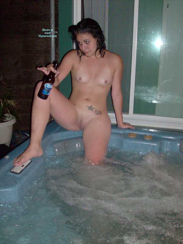 Nude hot tub wives