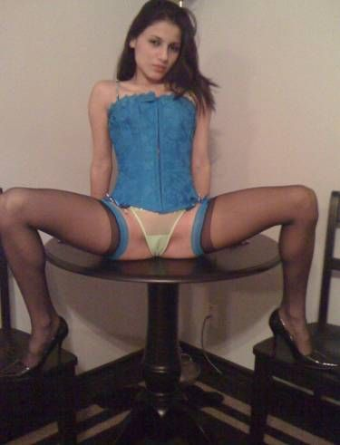 Teen spread eagle on bed