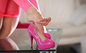 Pornstars wearing high heels