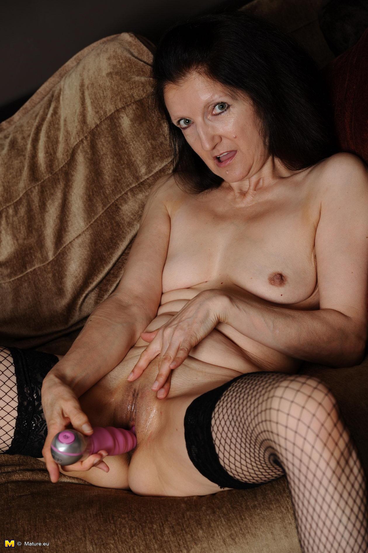 Horny mature sluts masturbating