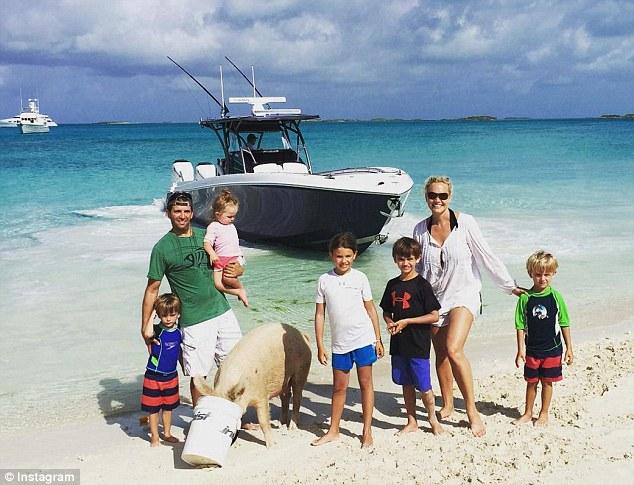 Beach wife bahamas on in