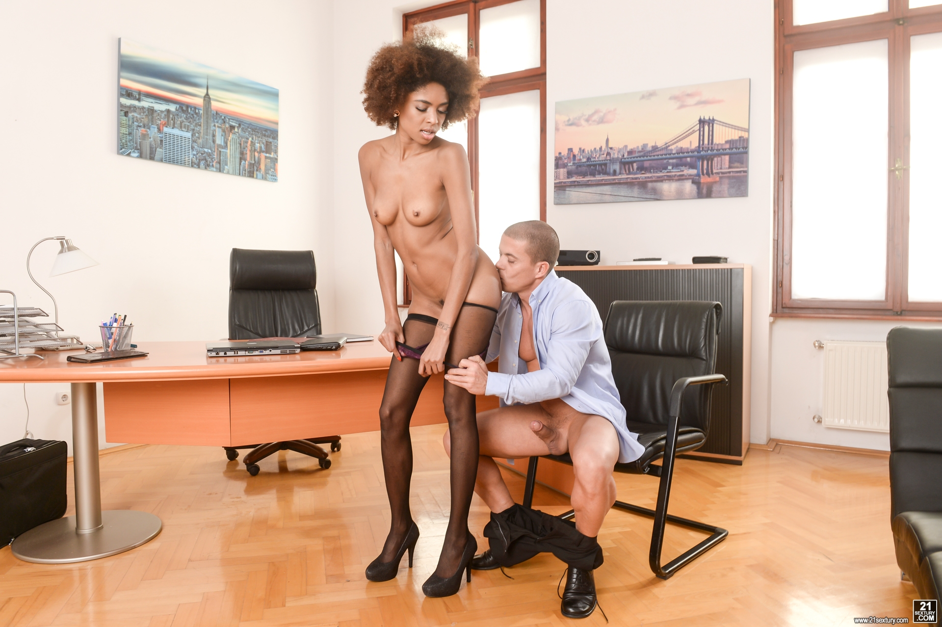 Black american office porn