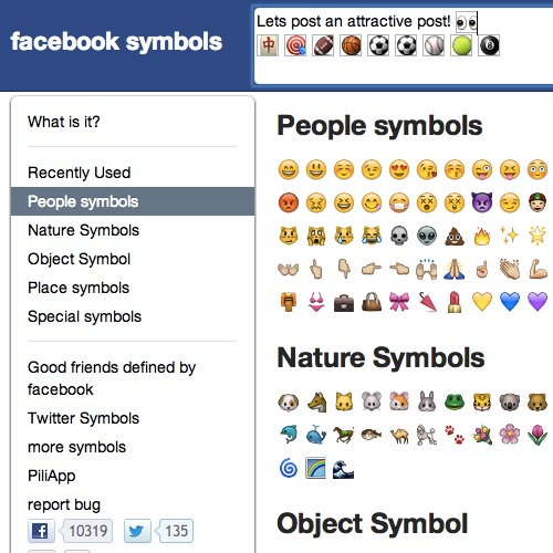 Facebook emoticons list meanings
