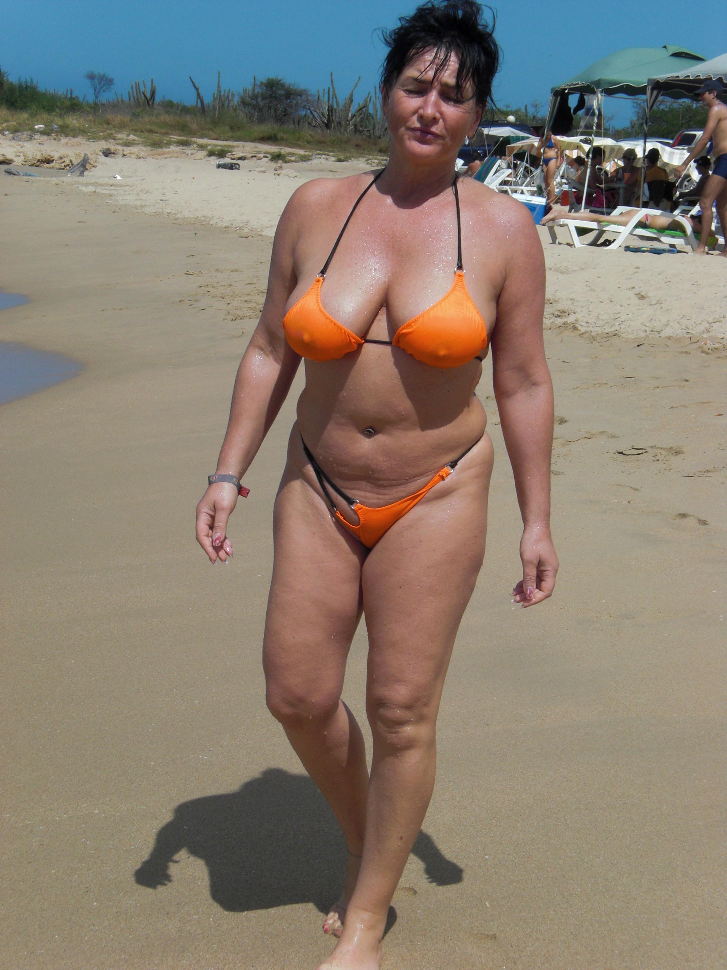 Micro bikini amateur moms