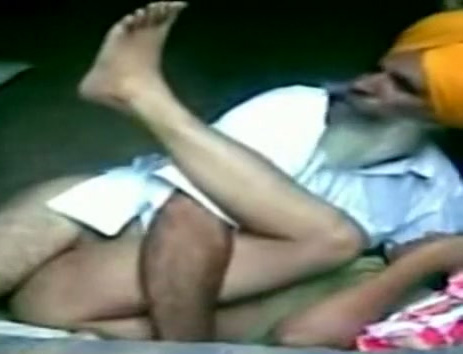 Indian old man sex his wife