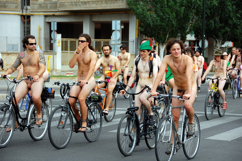 Los angeles world naked bike ride nude