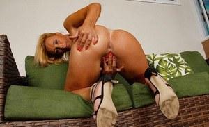 Blonde nude mature kissing hot lesbian brunette