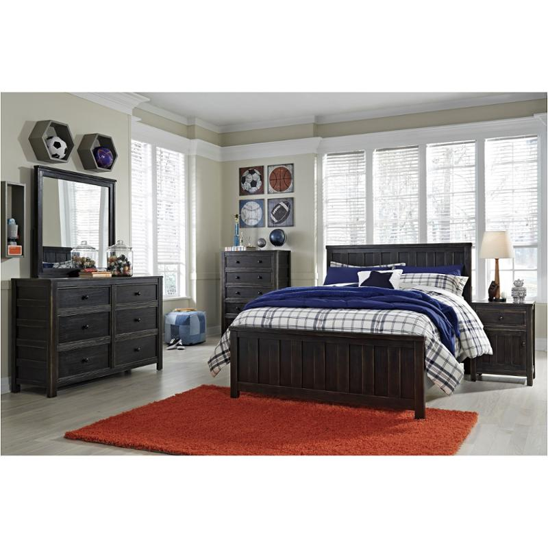 Black rubbed bedroom furniture