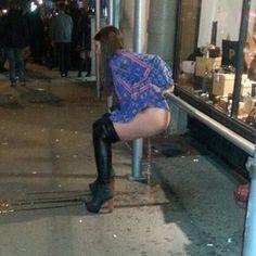 Girls pee outside gif