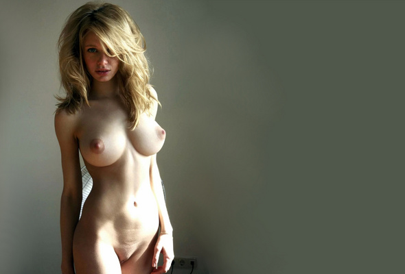 Firm natural perky tits
