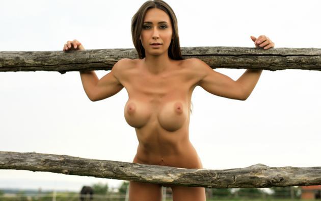 Nude brunette big boobs puffy nipples