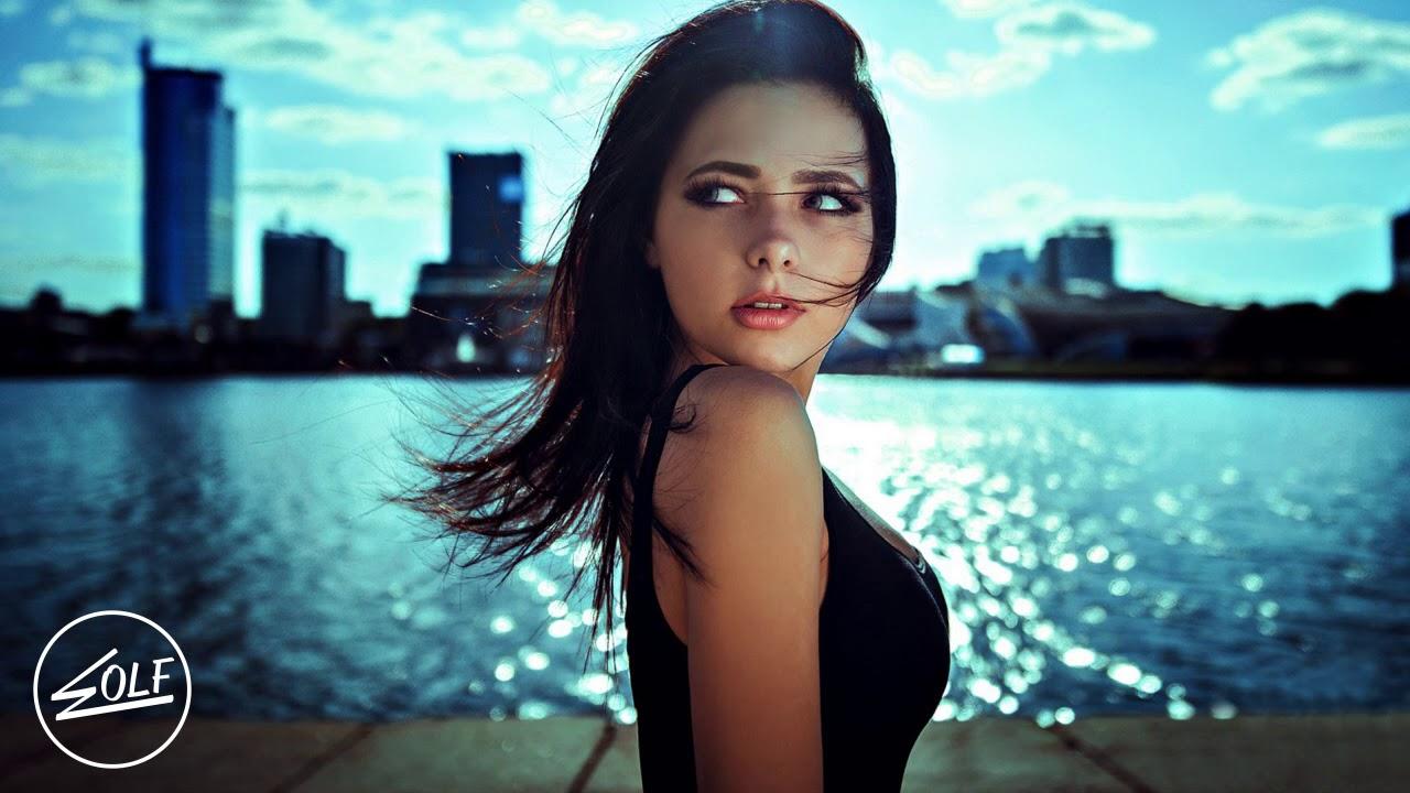 Electro house music girl model