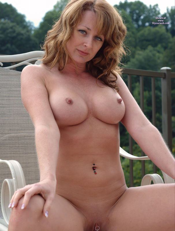 Naked woman with hard nipples